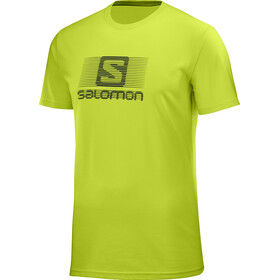 Salomon Blend Logo t-shirt Heren, acid lime